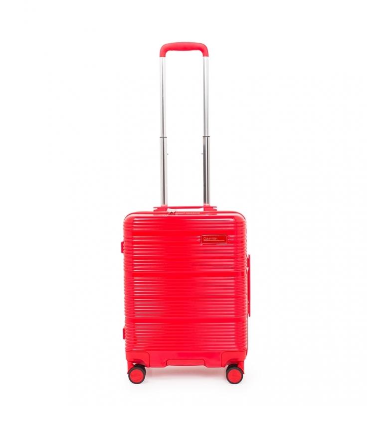 Calvin Klein Dimensioni cabina Globe Trotter rosso -52,7x39,3x21cm