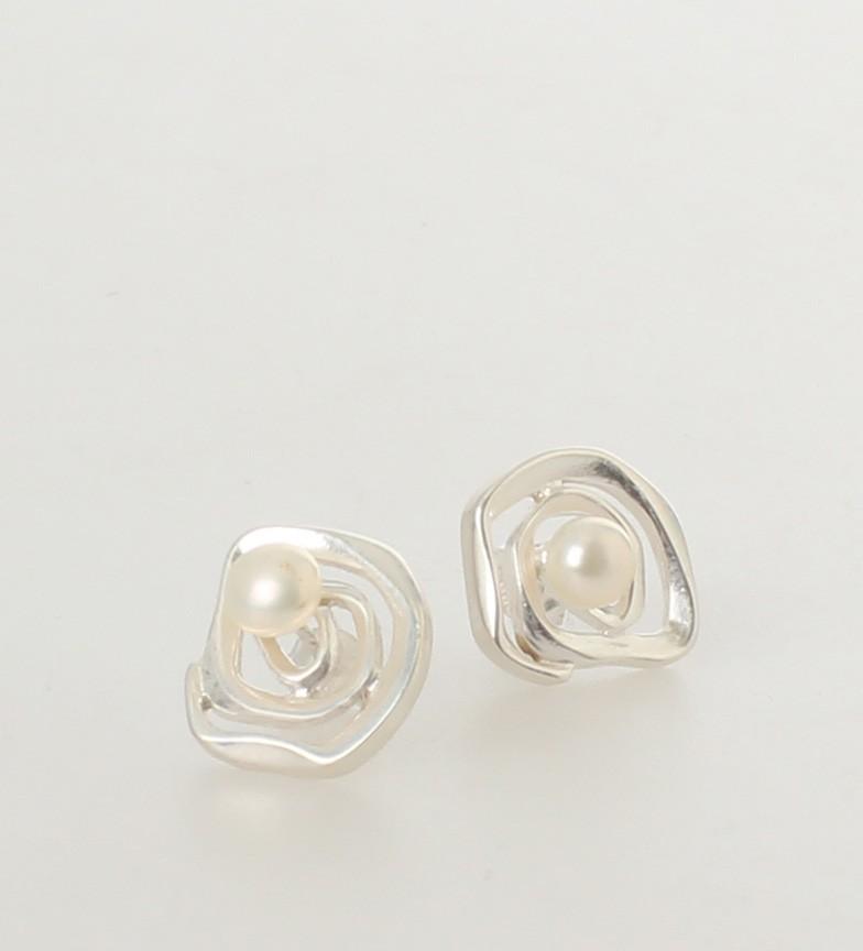 Comprar Yocari Pendientes Ramo plata, perlas blancas