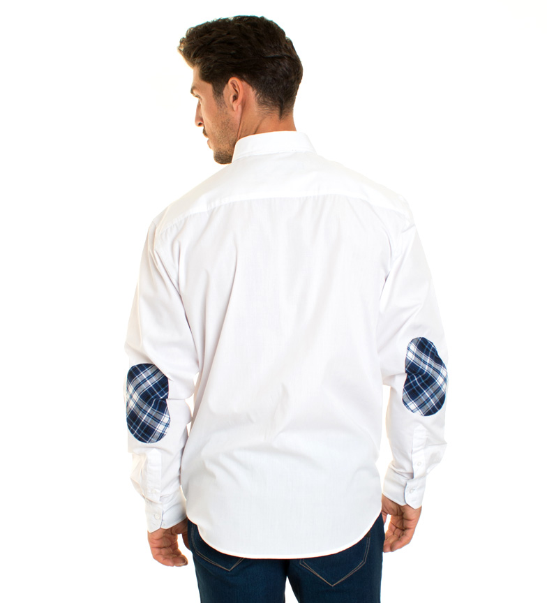 Shirt Camisa Blanco Premium Casual Styles dBroCQeWx