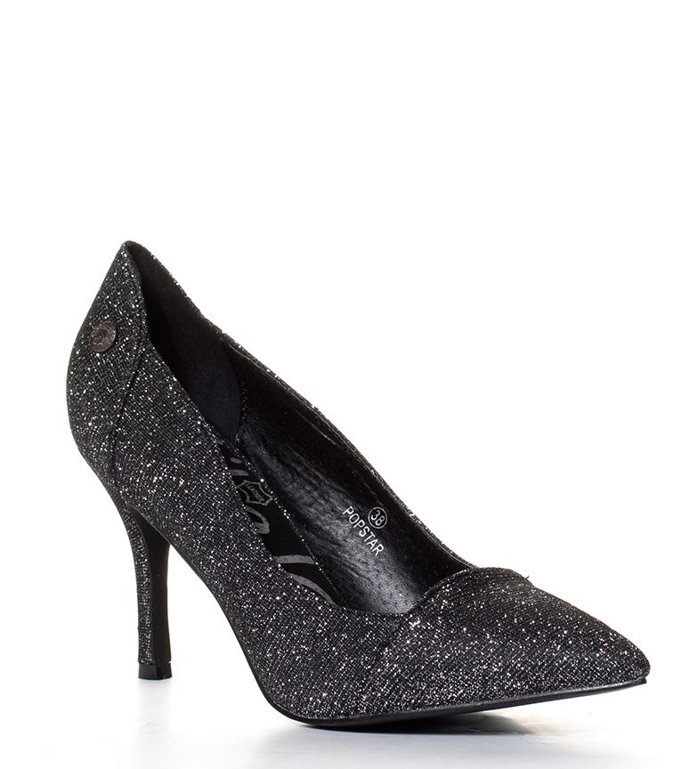 br Chika10 8 br Popstar tacón 5cm negro Zapatos Altura qvxOpwTtv