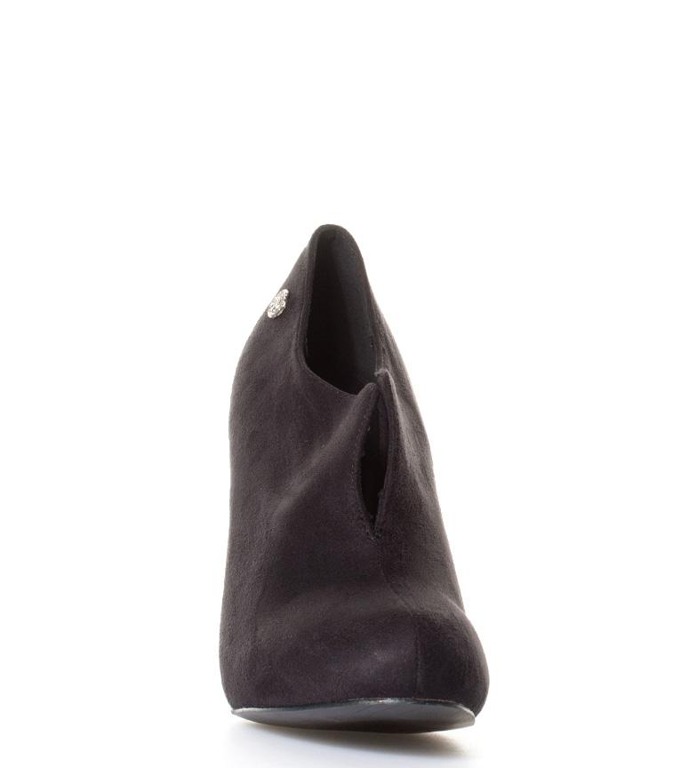 br Chika10 tacón br Altura Zapatos abotinados negro Mikaela 10cm gqwUaqZv
