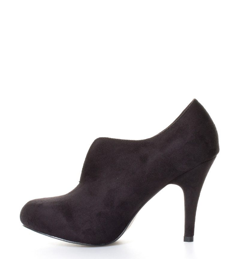 10cm negro tacón Zapatos abotinados br Mikaela Altura Chika10 br 48pwFFq
