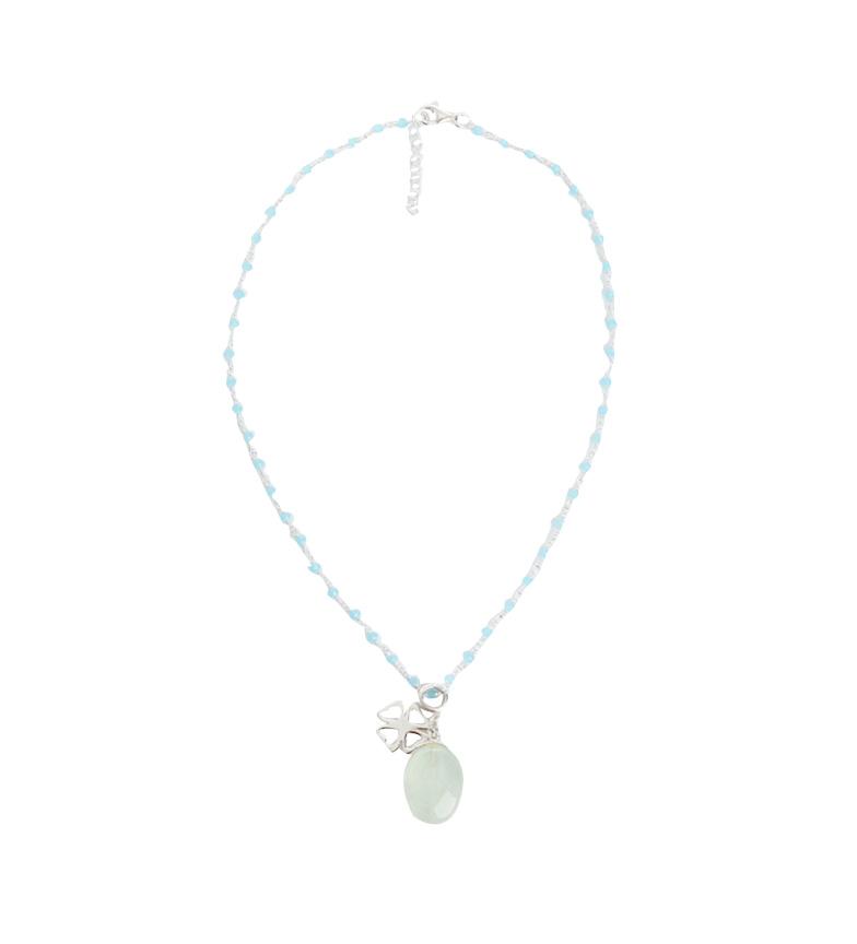 Comprar Yocari Collier argent chapelet Trèfle, quartz vert