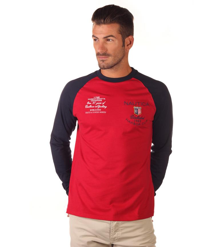 Nautica Camiseta Harbor Cup rojo, marino