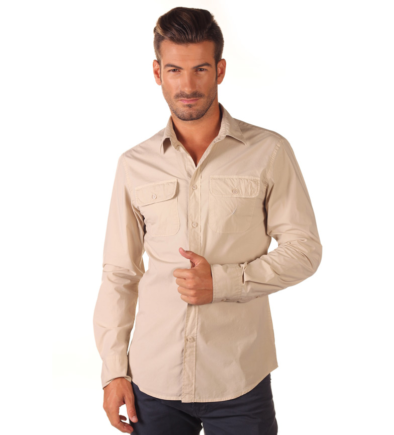 Nautica Camisa Basica beige