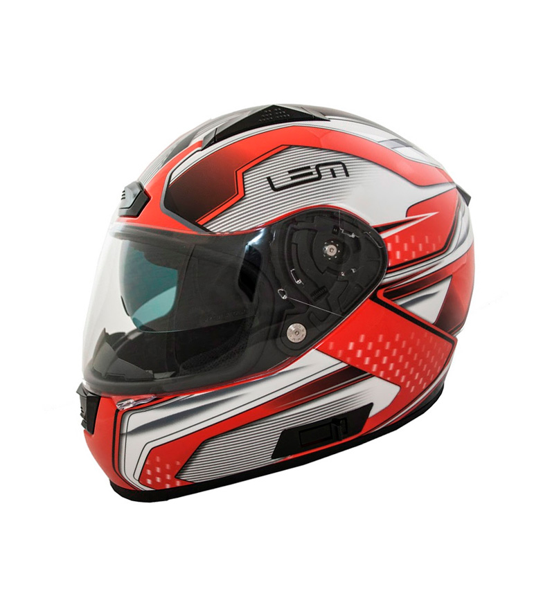 Comprar Lem Helmets Casco integral con visor solar LEM Race 406 rojo