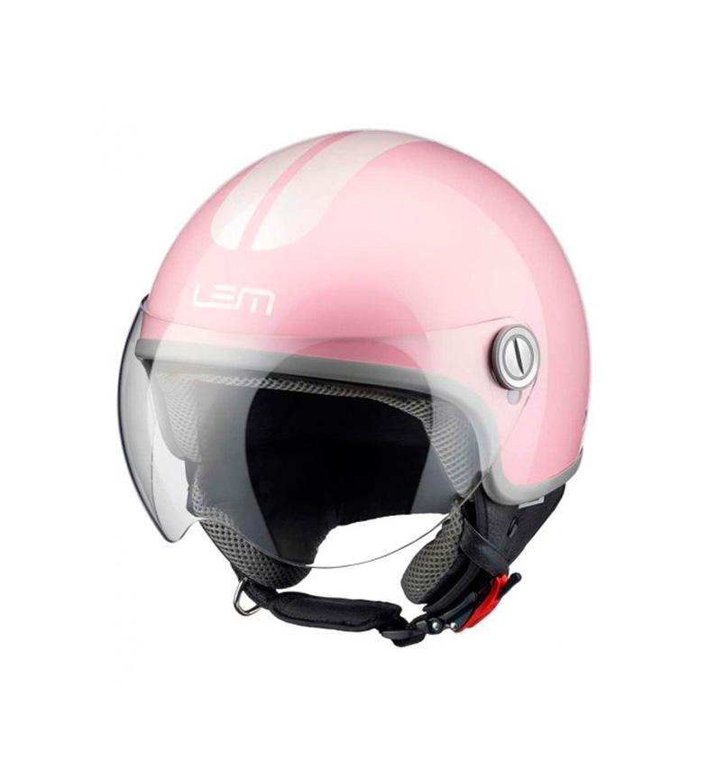 Comprar Lem Helmets Casco jet LEM Go Fast rosa brillo