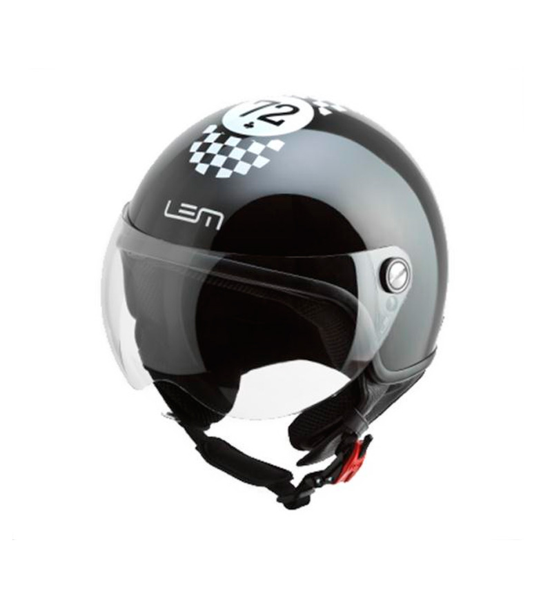 Comprar Lem Helmets Casco jet LEM Cafe Racer negro