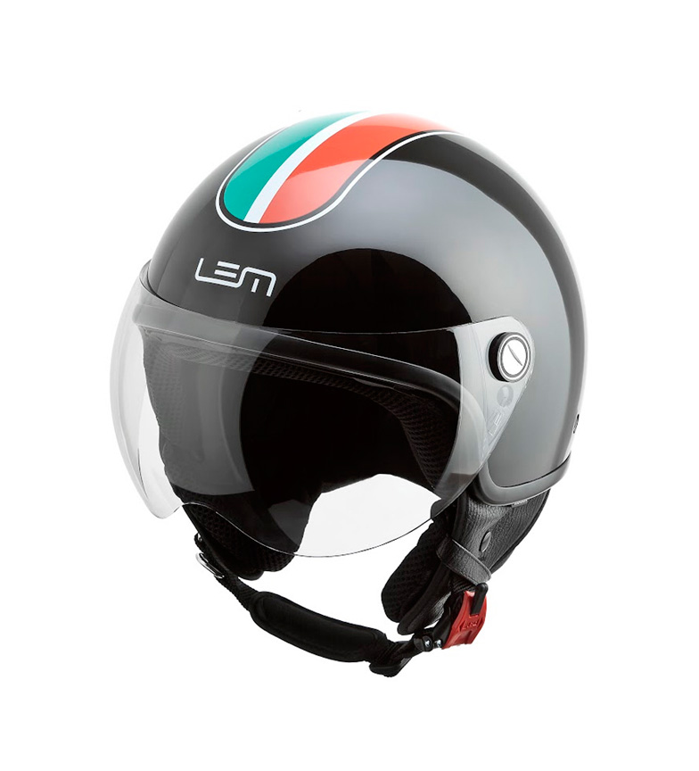 Comprar Lem Helmets Casco jet LEM Go Fast Italia negro
