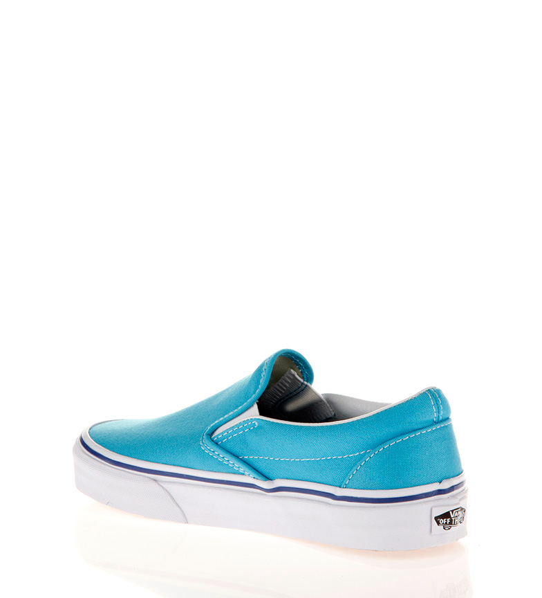 Vans Slip on Classic cyan blue, true white