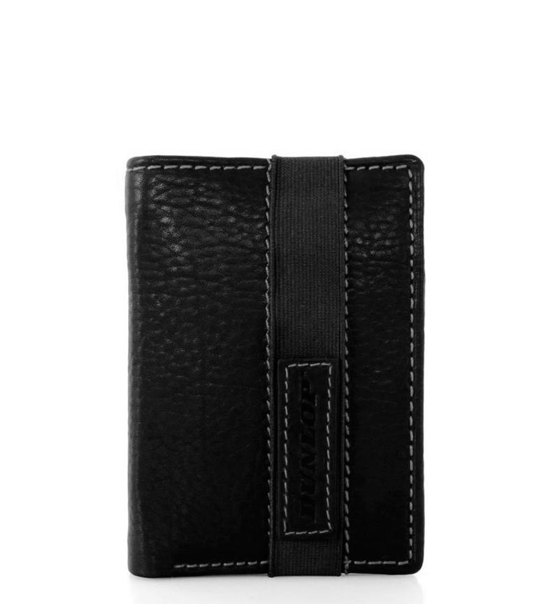 Comprar Dunlop Portafoglio in pelle nera Bicom-8,5x10,5cm-