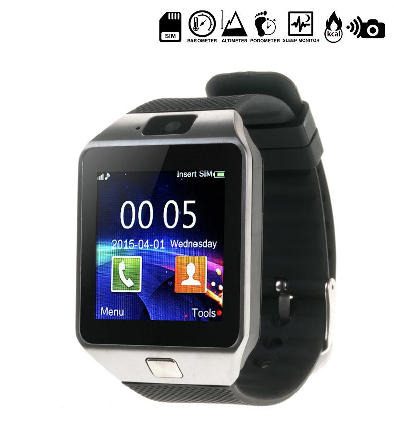 Comprar Tekkiwear by DAM Reloj digital con bluetooth y tarjeta SIM Type 3 plateado