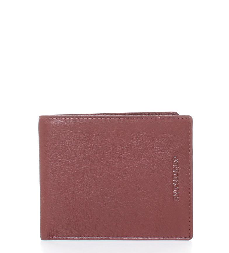 Comprar Antonio Miro Fagus leather wallet burgundy-11x9x1cm-