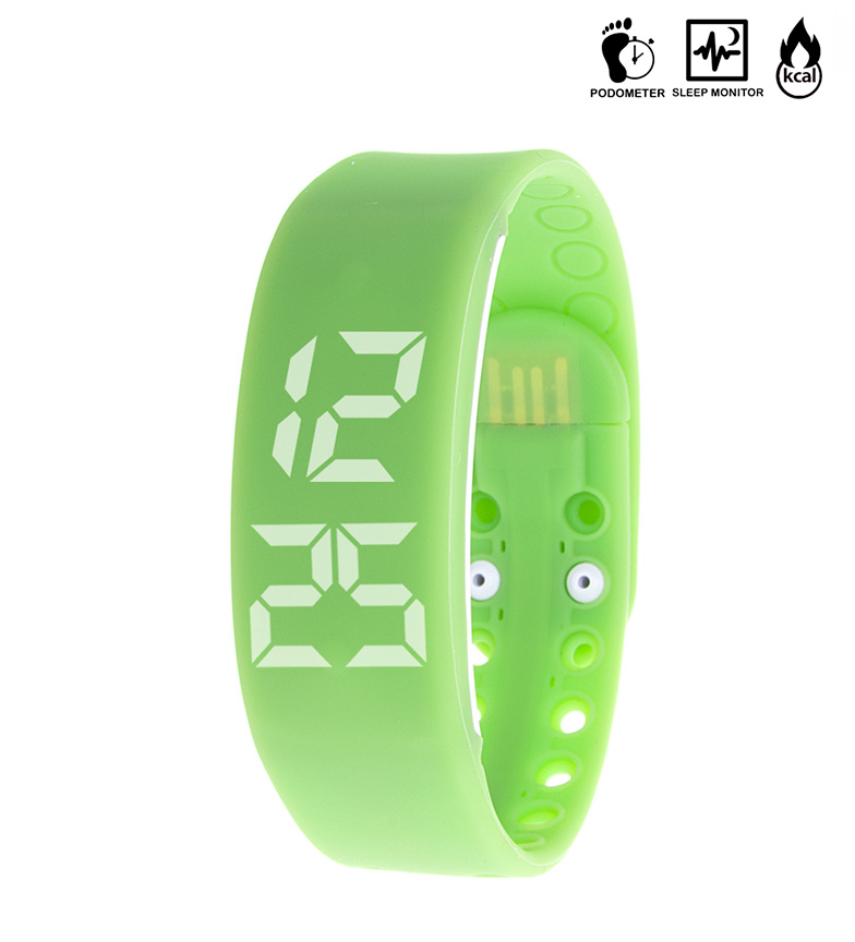 Comprar Tekkiwear by DAM Digital clock with built-in USB 2.0 Fit Pc Control green