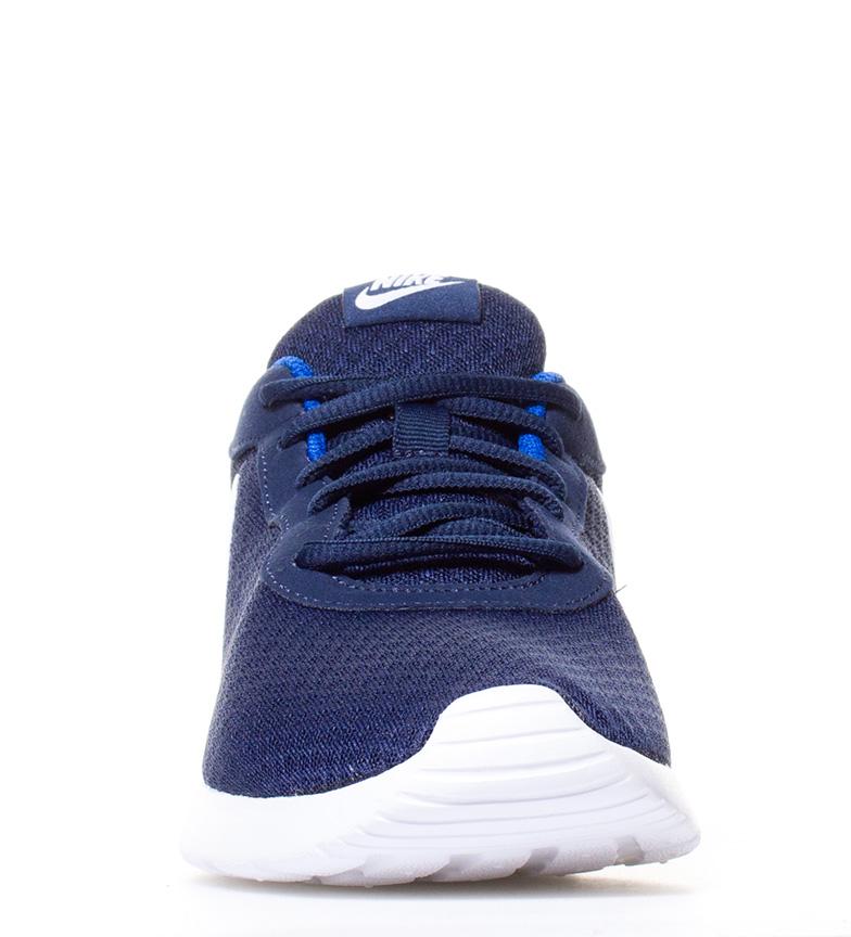 Nike-Chaussures-Tanjun-Homme-Bleu-Noir-Blanc-Tissu-Lacets-Sportswear-Plat miniature 28