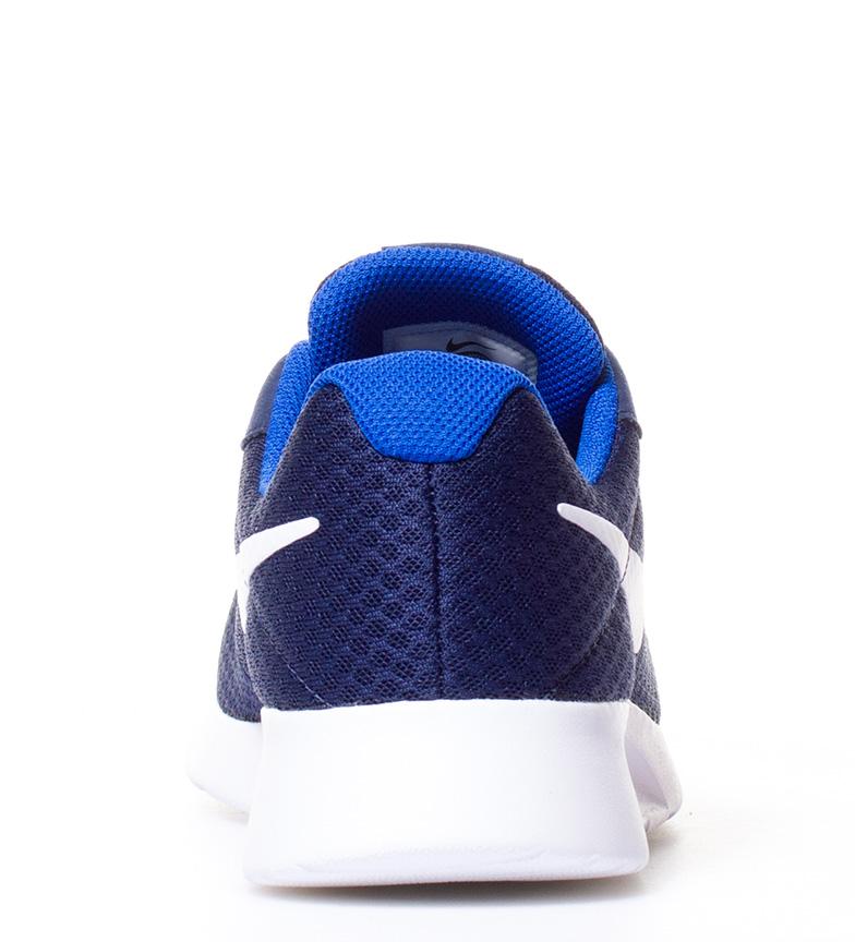 Nike-Chaussures-Tanjun-Homme-Bleu-Noir-Blanc-Tissu-Lacets-Sportswear-Plat miniature 29