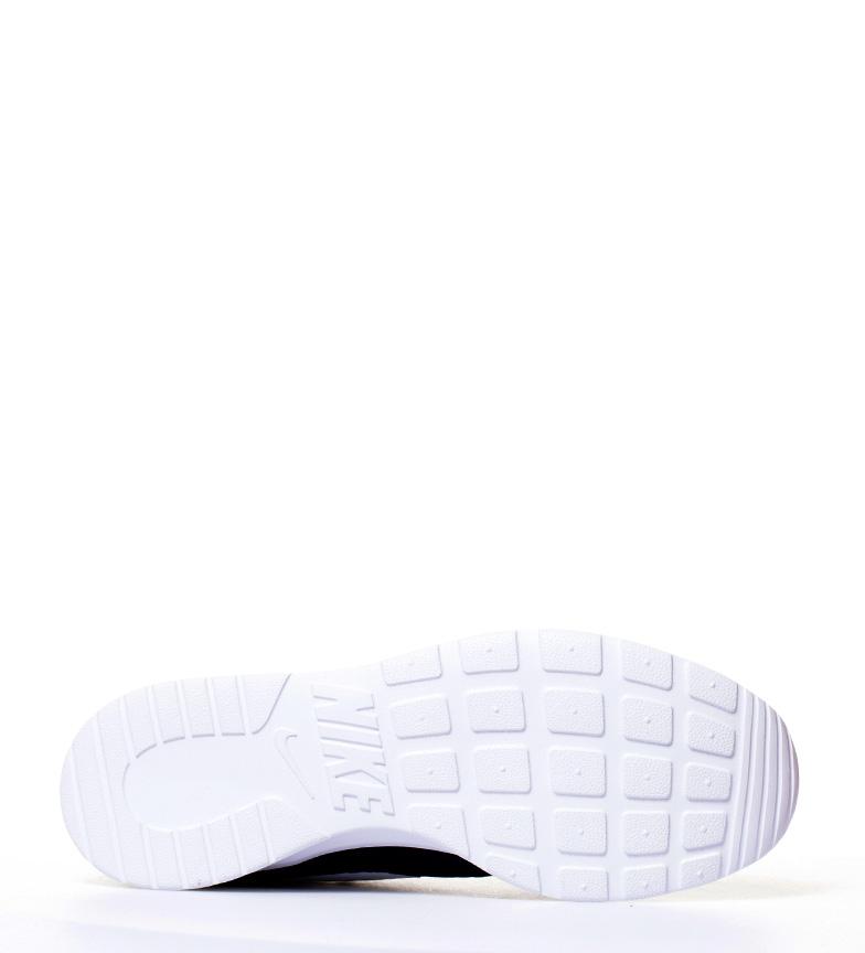 Nike-Chaussures-Tanjun-Homme-Bleu-Noir-Blanc-Tissu-Lacets-Sportswear-Plat miniature 31