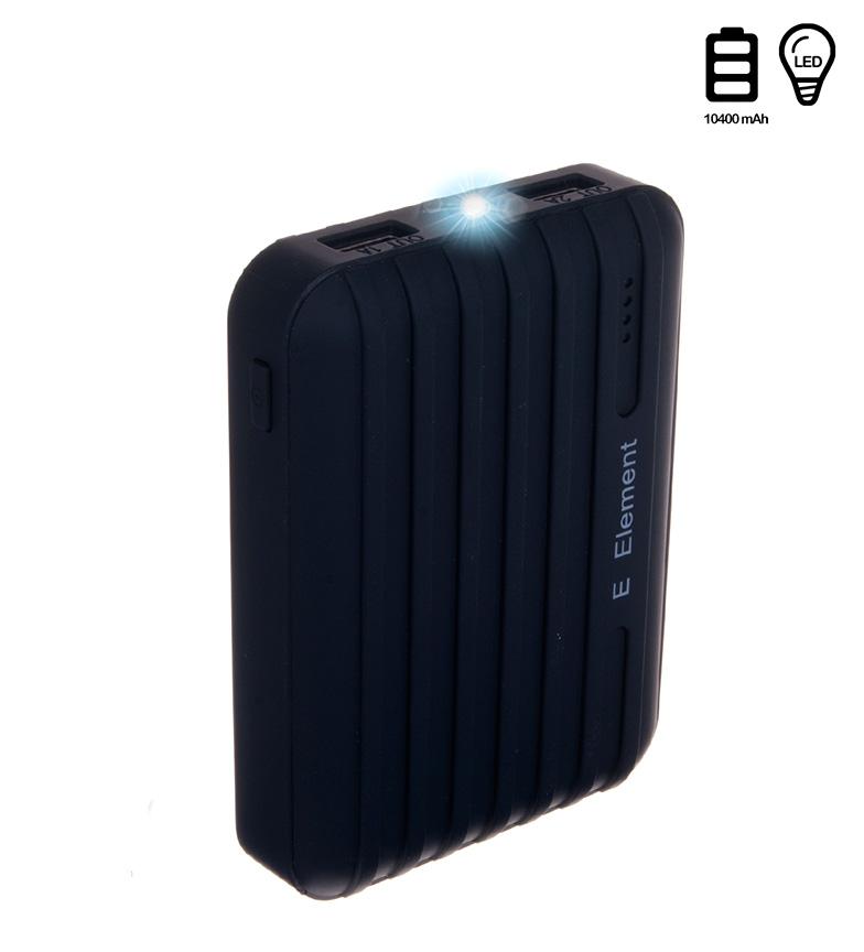 Comprar Tekkiwear by DAM Batería negra 10400mAh doble USB con luz incorporada-7,8x2,6x10,7cm-