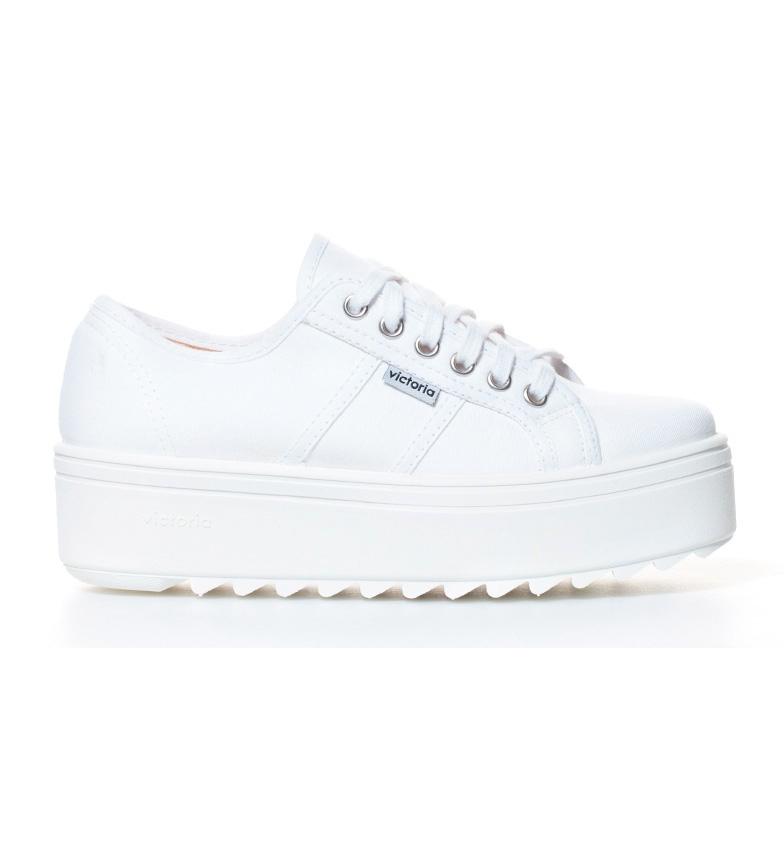 Comprar Victoria Chaussures compensées en toile blanche -Hauteur de plateforme: 5 cm-