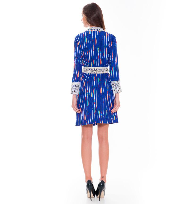 Almatrichi Vestido Shanon Bot azul