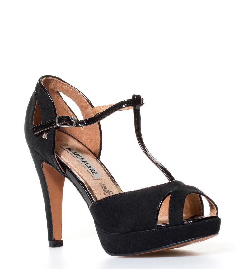 MARIAMARE negro Laenera tacón br br 9cm Altura Zapatos rxSqwr