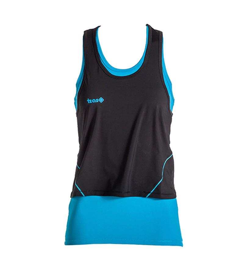 Comprar Izas Doble camiseta running Subia negro, turquesa