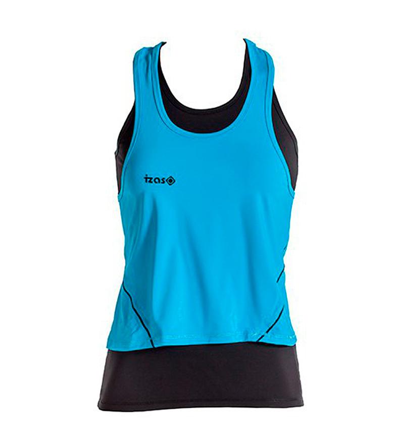Comprar Izas Doble camiseta running Subia turquesa, negro