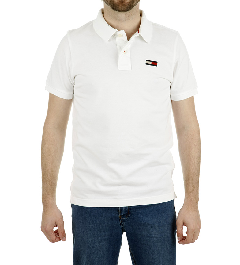 2594a9ba5 Comprar Tommy Hilfiger Polo Basic Big Flag blanco - Esdemarca Loja ...