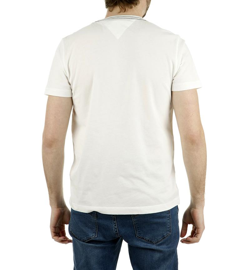 Blanco Lukas Camiseta Hilfiger Tee Tommy w80nPXOk