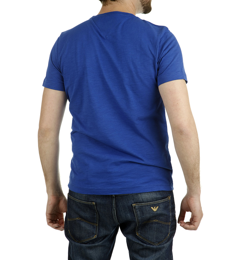 Camiseta Royal Tommy Tee Azul Hilfiger Varick tohQdxBsrC