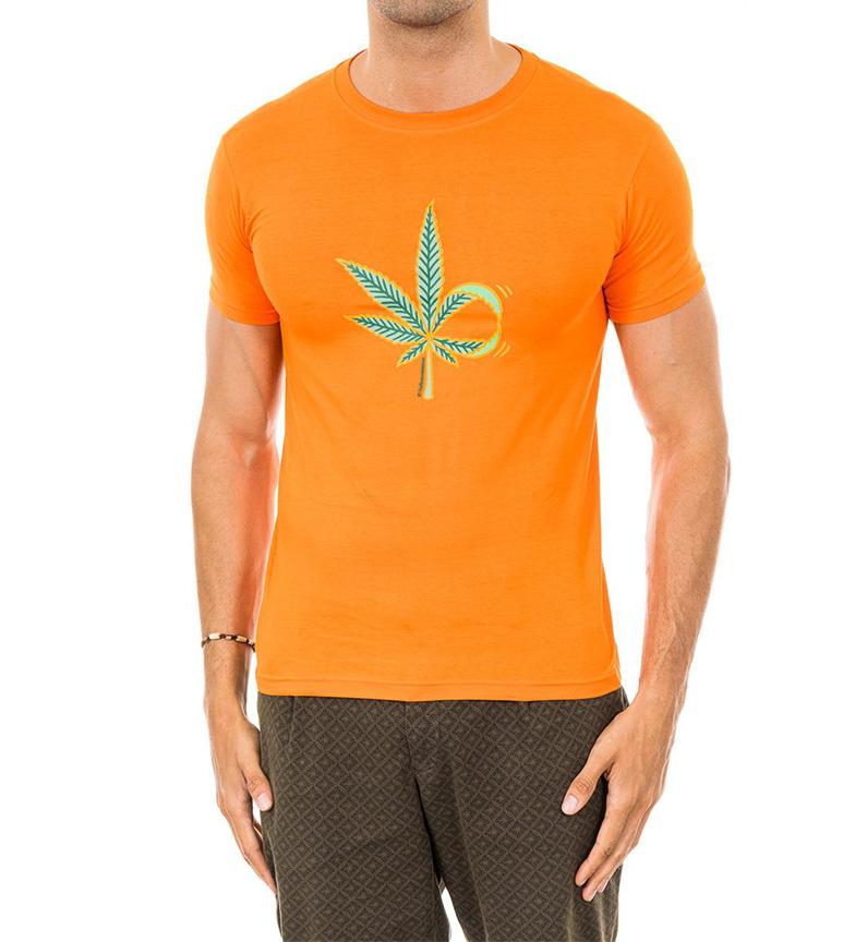 Kukuxumusu Camiseta Leaf naranja