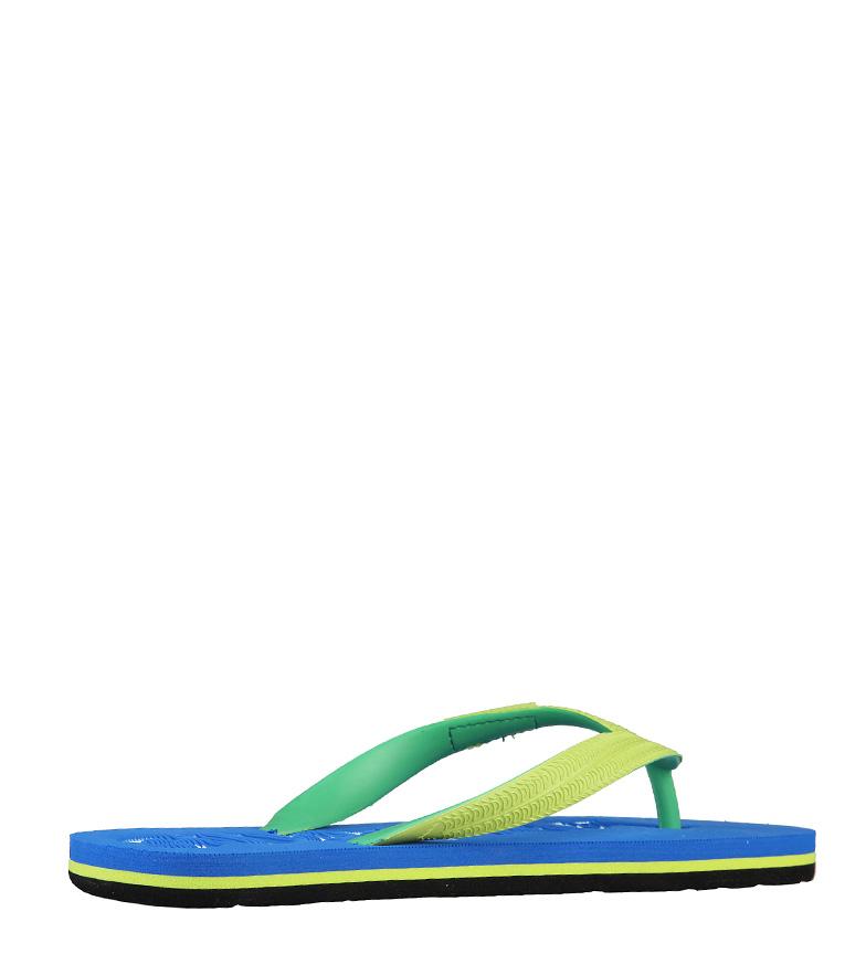 Flip color Superga en verde flop azul Bzzdq