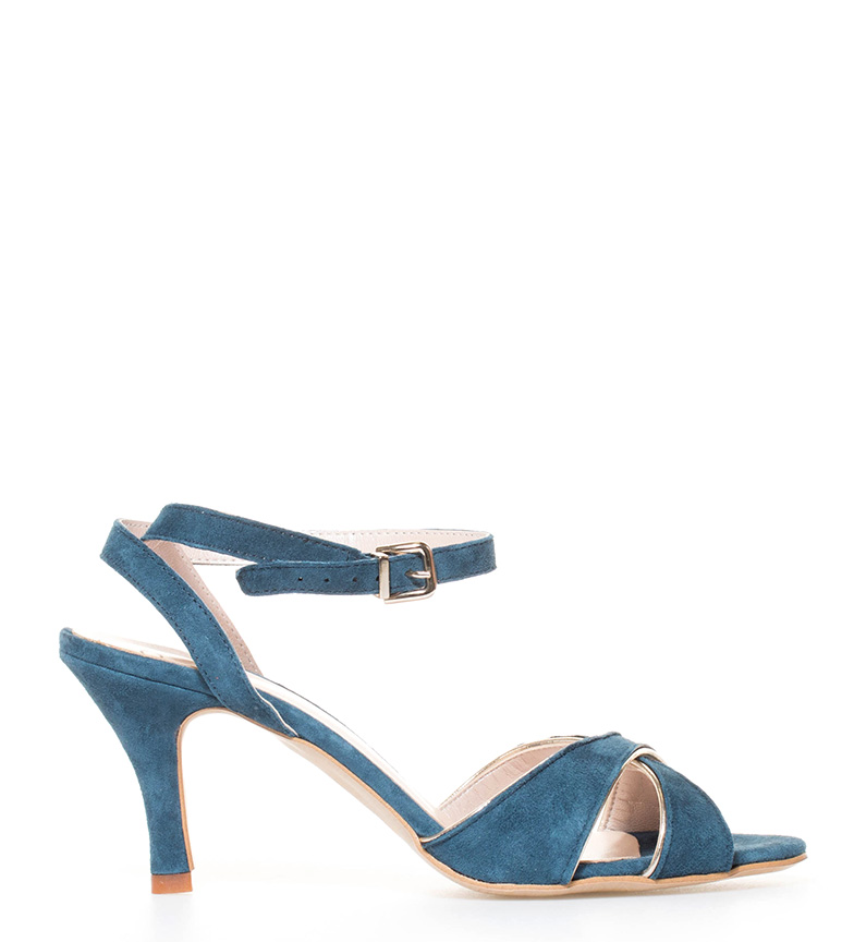 Aïta Sandalias de ante Tango azul Altura tacón: 7cm