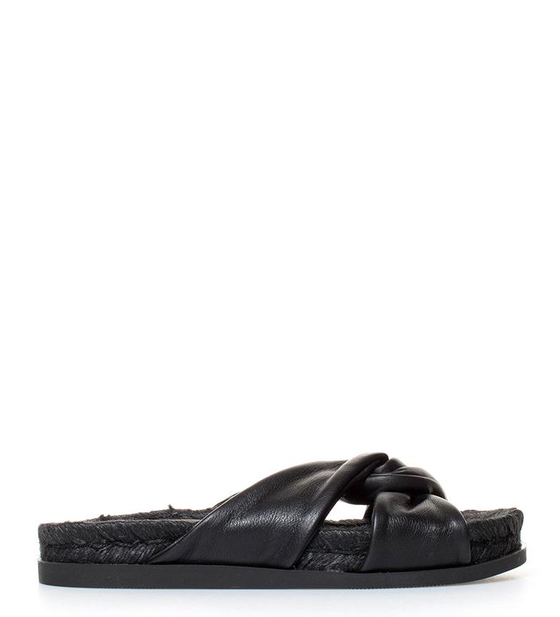 Comprar Aïta Leather espadrilles Black knot