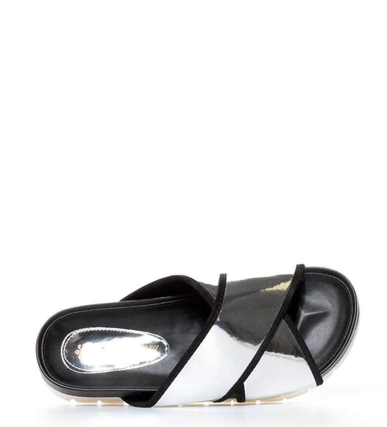 plataforma br plata Sandalias Cali Altura 4cm br Xti metalizado FxZ0WFn