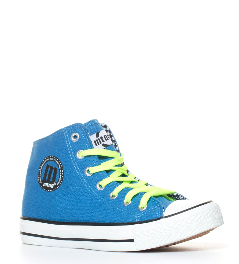 Mustang-Zapatillas-Trend-High-Mujer-chica-Negro-Azul-Plata-Rosa-Dorado-Tela