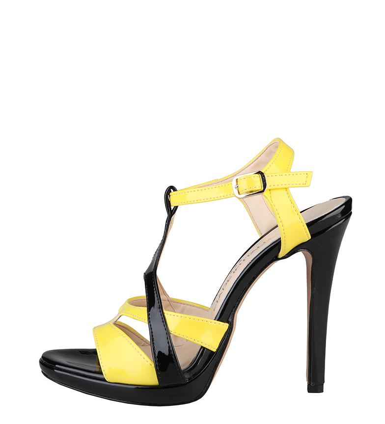 Comprar Made In Italia Sandalias Iolanda amarillo, negro -Tacón de 10cm-