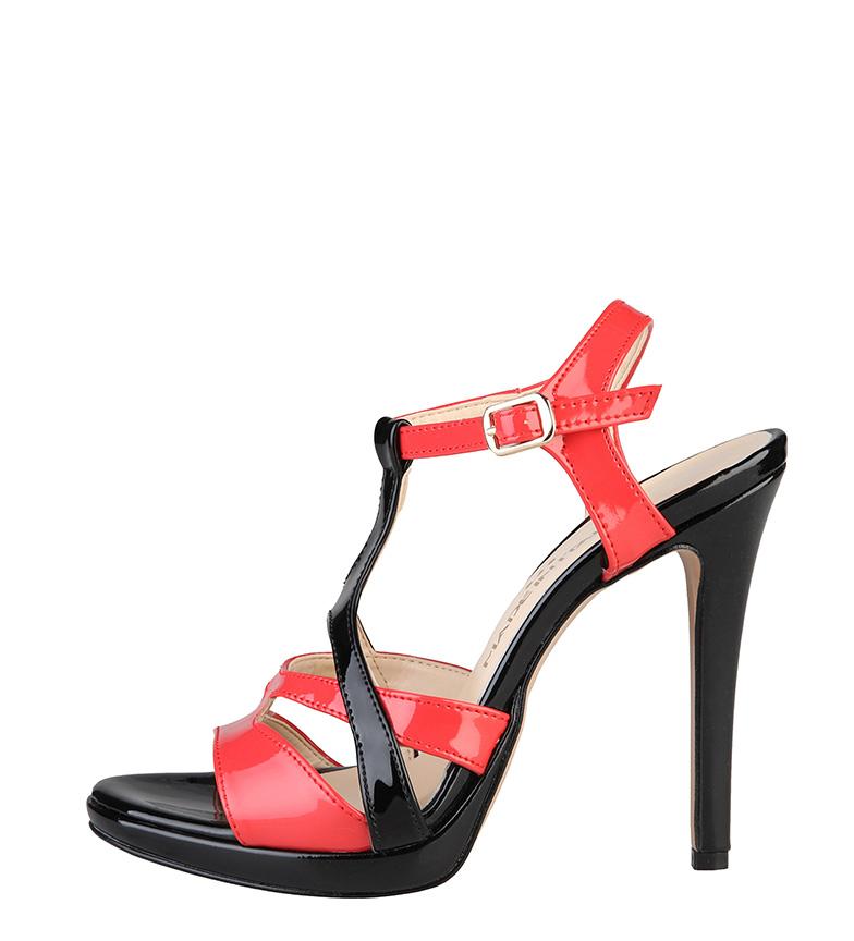 Comprar Made In Italia Sandals Iolanda coral, black -Tacón of 10cm-