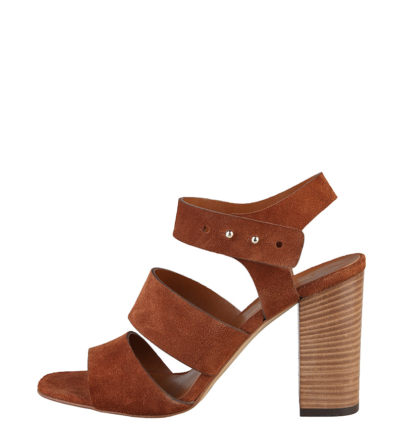 Comprar Made In Italia Sandalias de serraje Teresa color marrón -Tacón de 10cm-