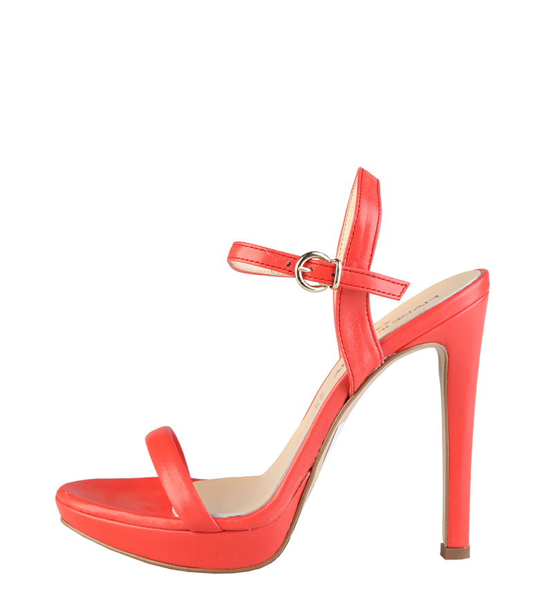 Comprar Made In Italia Marcella sandali in pelle color corallo -Tacón di 12cm-