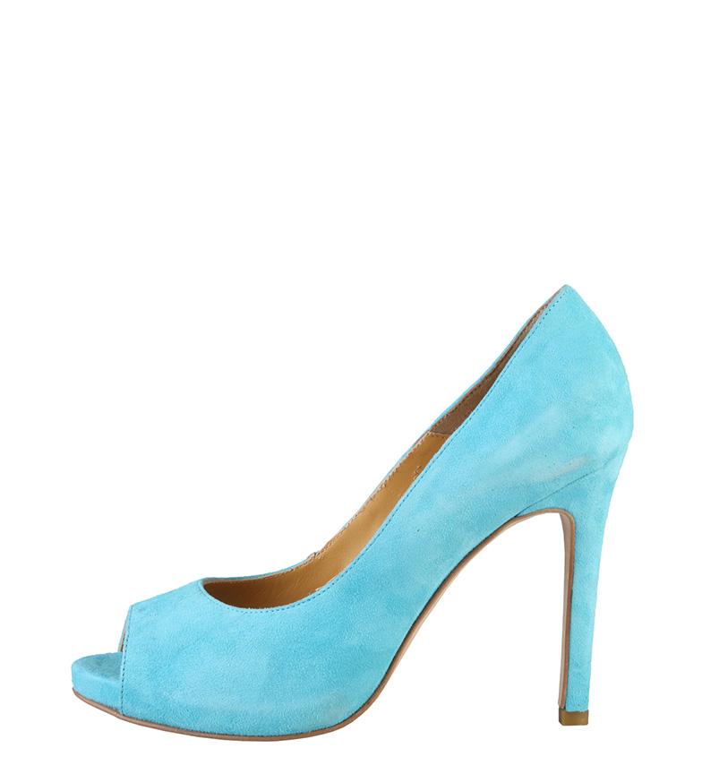 Comprar Made In Italia Erminia scarpe di camoscio di colore blu -Tacón di 10cm-