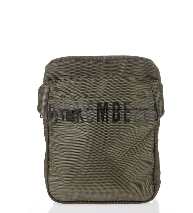 Comprar Bikkembergs DB-ombro cinzento azeitona -21x27x3cm- tampa