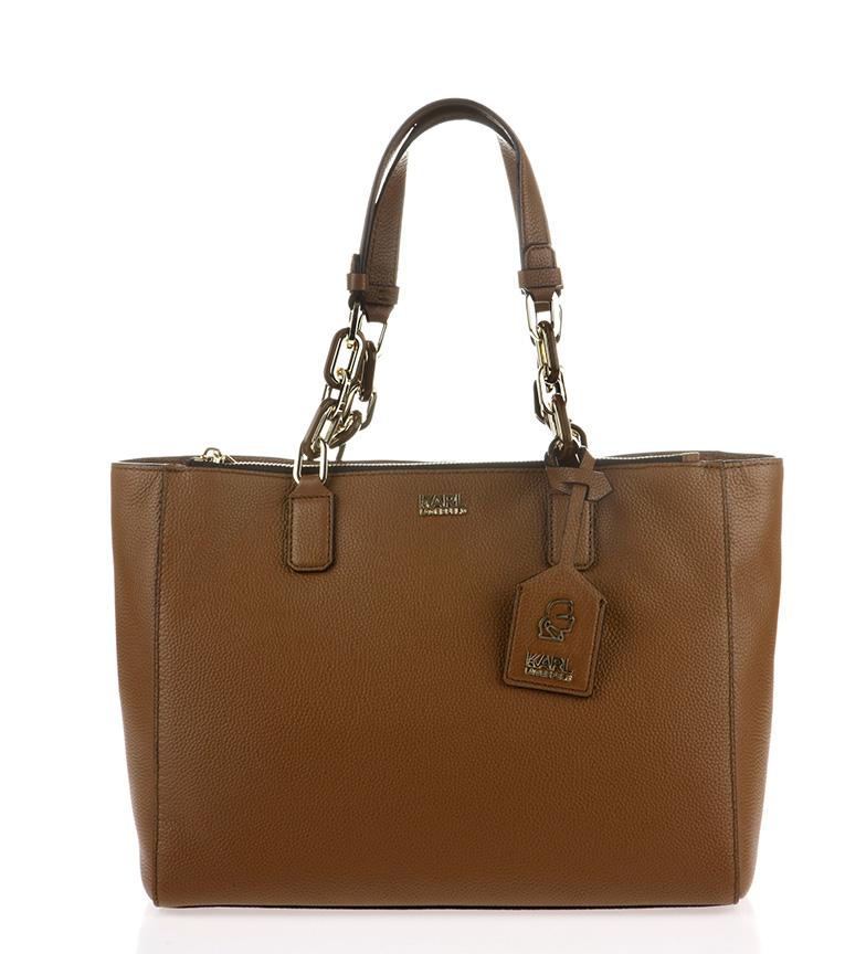 Comprar Karl Lagerfeld Brown leather bag<font color=#38B0DE>-==- Proudly Presents