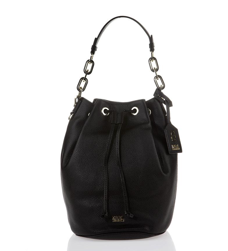 Comprar Karl Lagerfeld Bolso de piel color negro-22x31x22cm-