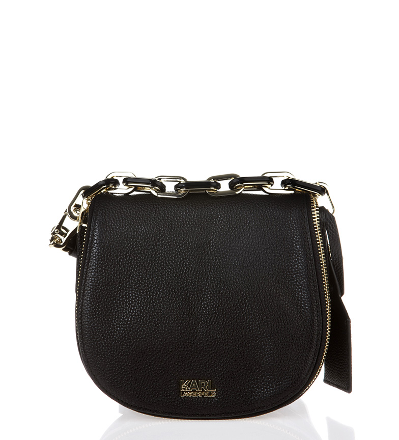 Comprar Karl Lagerfeld Black leather bag<font color=#38B0DE>-==- Proudly Presents