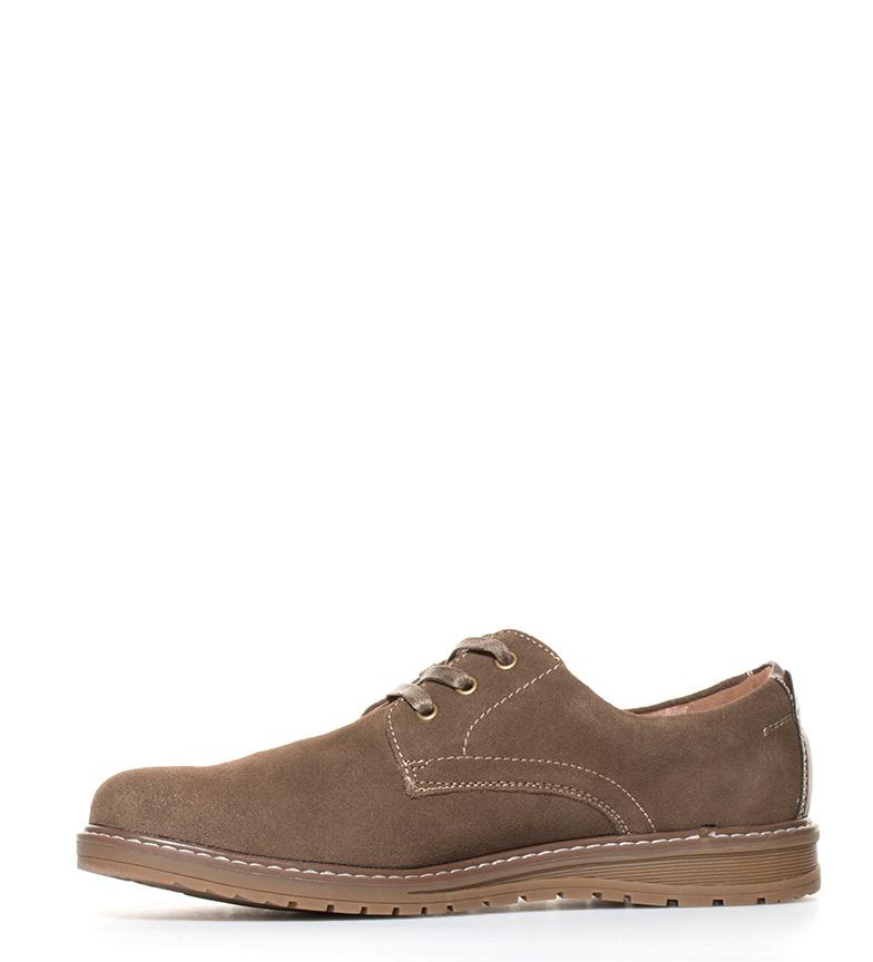 Xti Zapatos de serraje Charles marrón