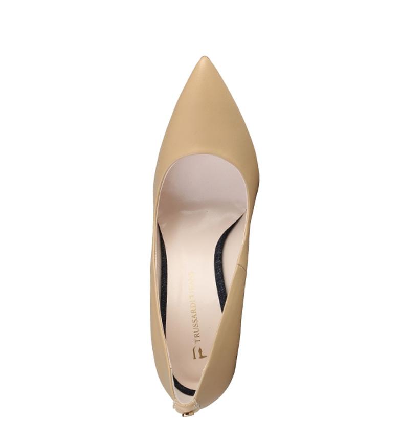 Trussardi color piel beige Zapatos 10cm tacón Altura de 71Hr7qRwx
