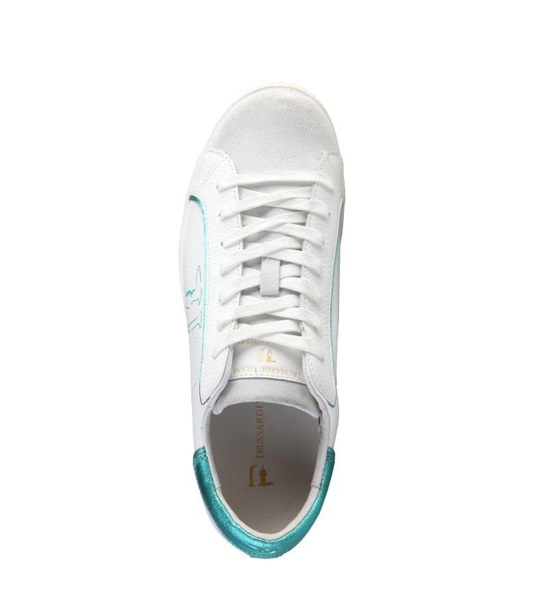 blanco de Trussardi aguamarina color Trussardi Zapatillas Zapatillas piel wxYvq67xt
