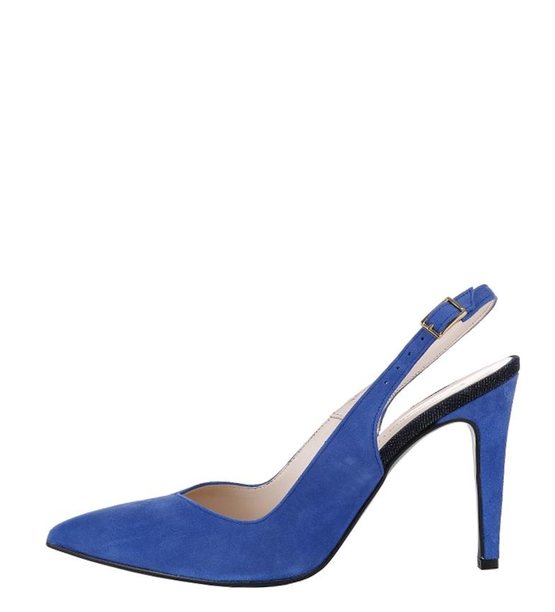 azul Zapatos Trussardi Altura color tacón 10cm de serraje xvIBInw7pq