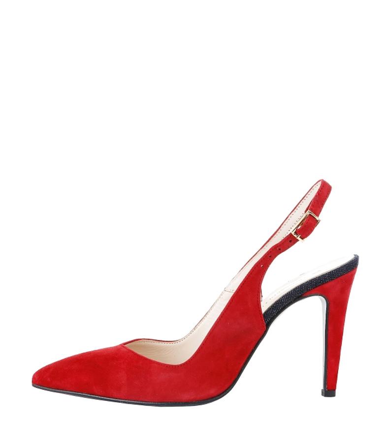 Trussardi tacón Altura serraje de Zapatos Trussardi color 10cm rojo Zapatos 5IO80BnqI